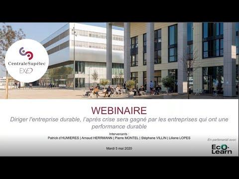 Webinar : diriger l'entreprise durable