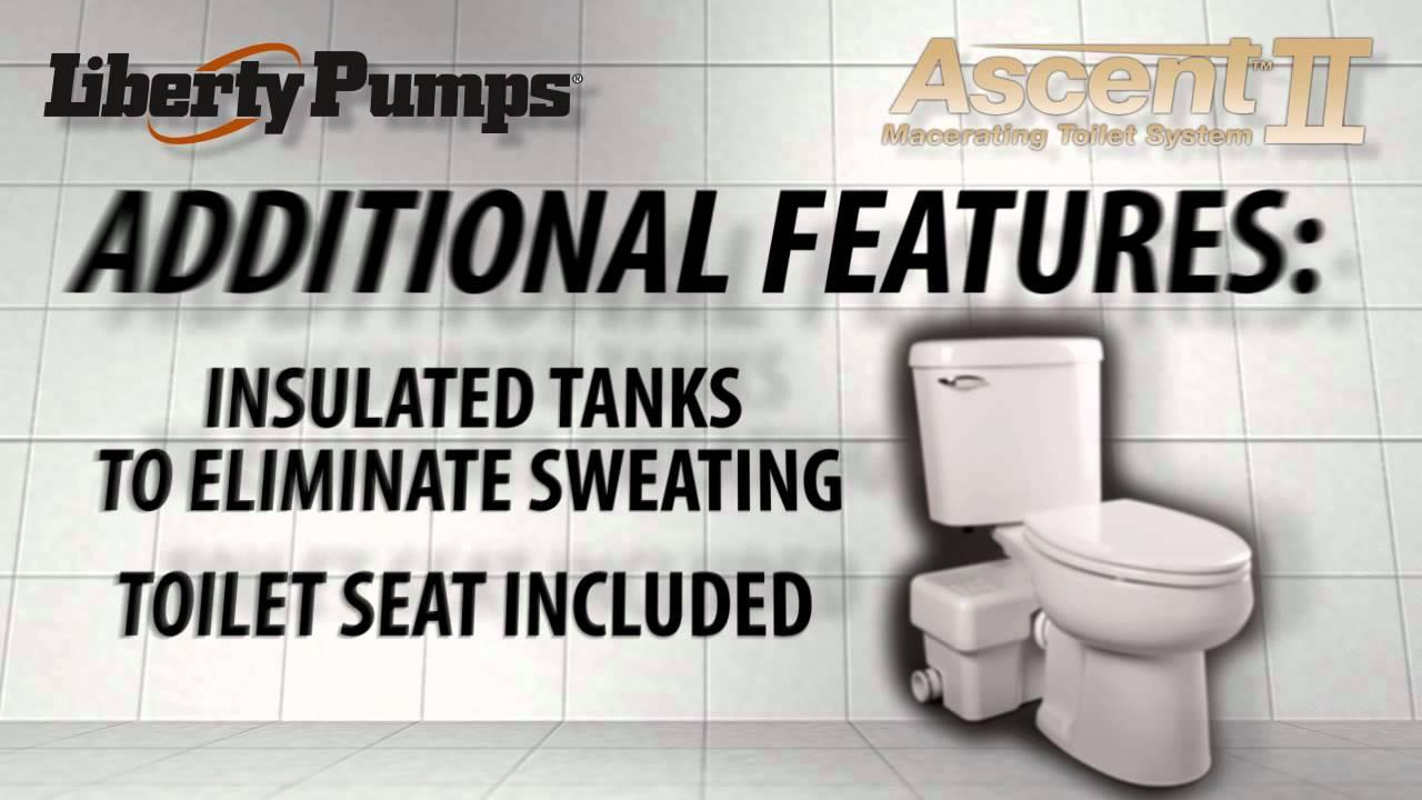 Liberty Pumps Ascent Ii Macerating Toilet Youtube