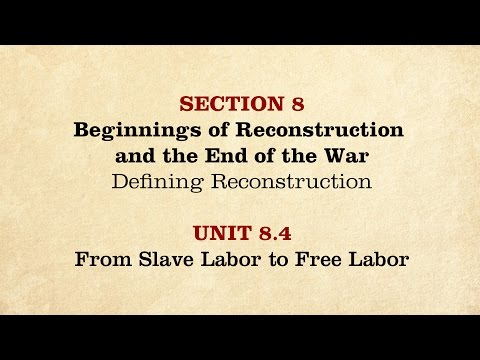 MOOC | From Slave Labor to Free Labor | The Civil War and Reconstruction, 1861-1865 | 2.8.4
