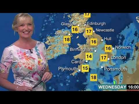 BBC Weather: Carol Kirkwood red-faced after THIS epic blunder as she wows in tight florals