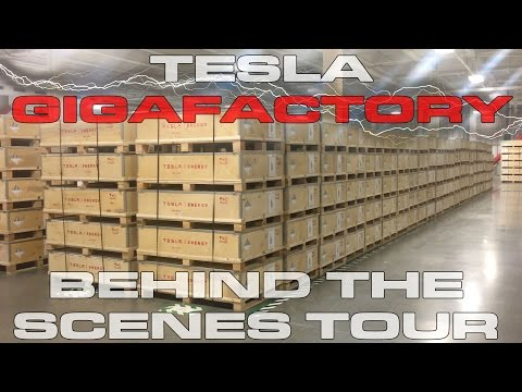 Tesla Gigafactory Behind the Scenes Inside Tour