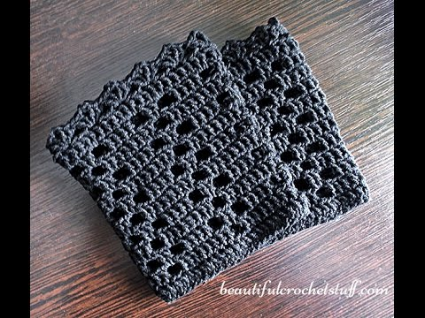 Crochet Boot Cuffs Pattern Youtube