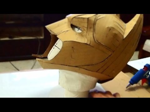 DIY Batman Cowl Part 1 Cardboard Cut Hot Glue How to YouTube