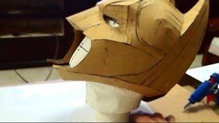 #23: Batman Cowl DIY 1/3 - cardboard, cut & hot glue (free PDF) | How To | Dali DIY