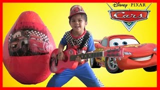 Paw Patrol Super Giant Surprise Egg Toys Opening Disney Cars Lightning McQueen Fire Truck Ckn