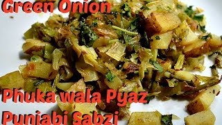 Green Spring Onion Sabzi.Kandha Baaji Punjabi Recipe video by Chawlas-Kitchen.com