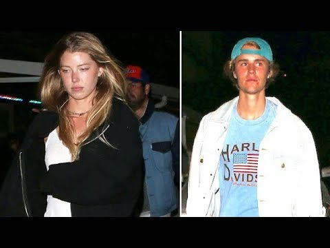 Move Over Selena! Justin Bieber Hits The Roxy With Sexy Model Baskin Champion