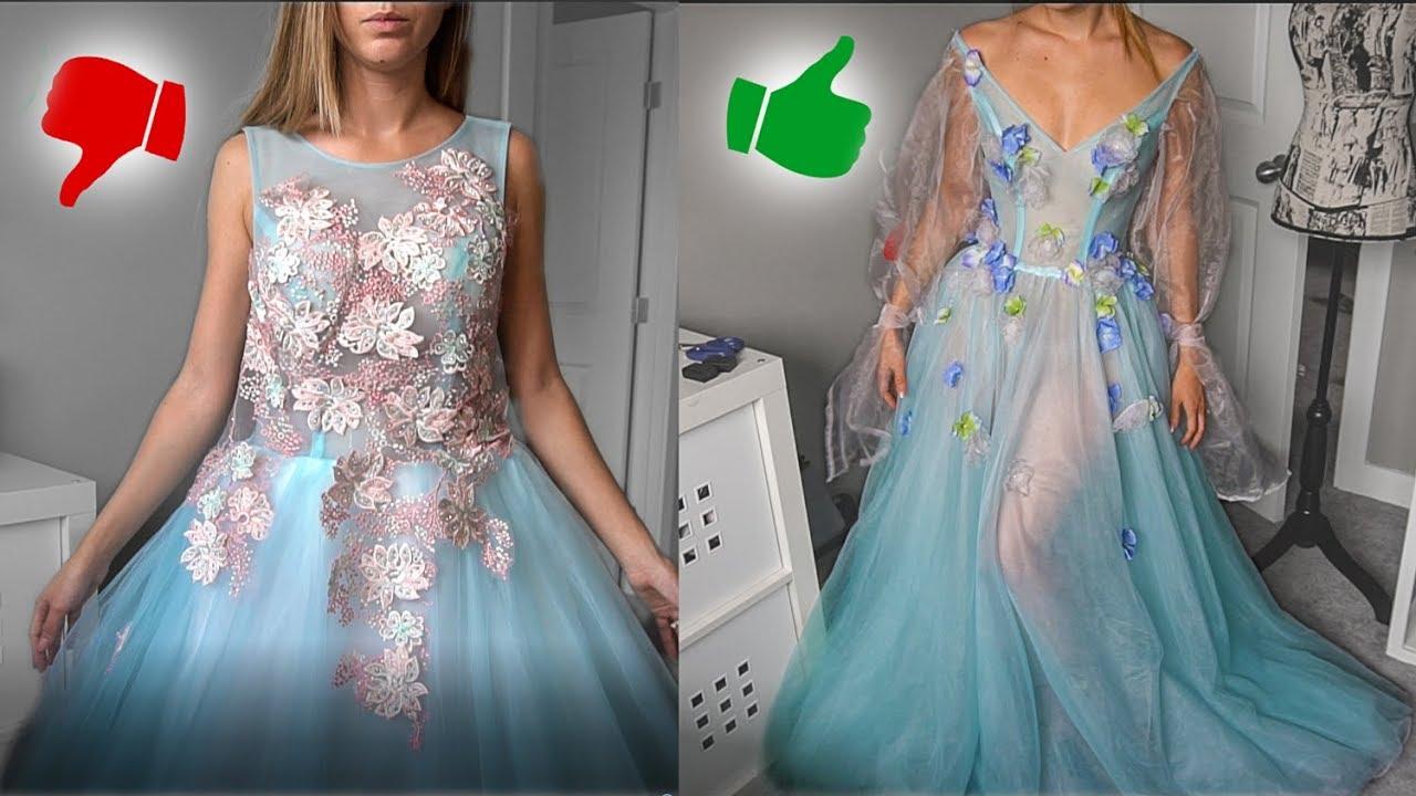 Prom Dress Transformation