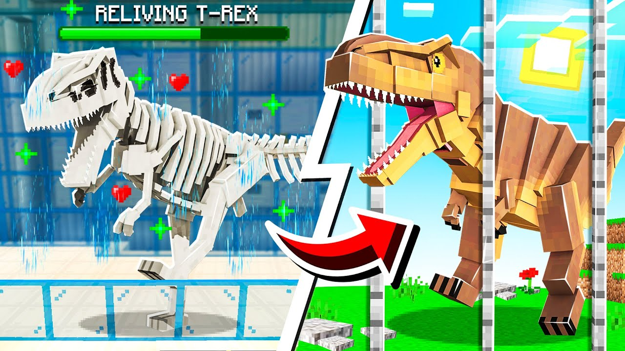 HOW TO BRING DINOSAUR FOSSILS BACK TO LIFE IN MINECRAFT!