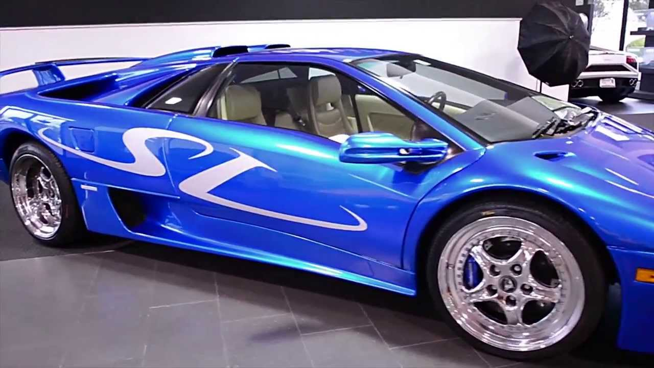 1999 Lamborghini Diablo SV Monterey Blue LC0260 - YouTube