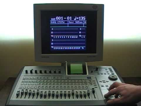 Demo of  the HGR2488 Classic VGA Monitor interface for the TASCAM 2488