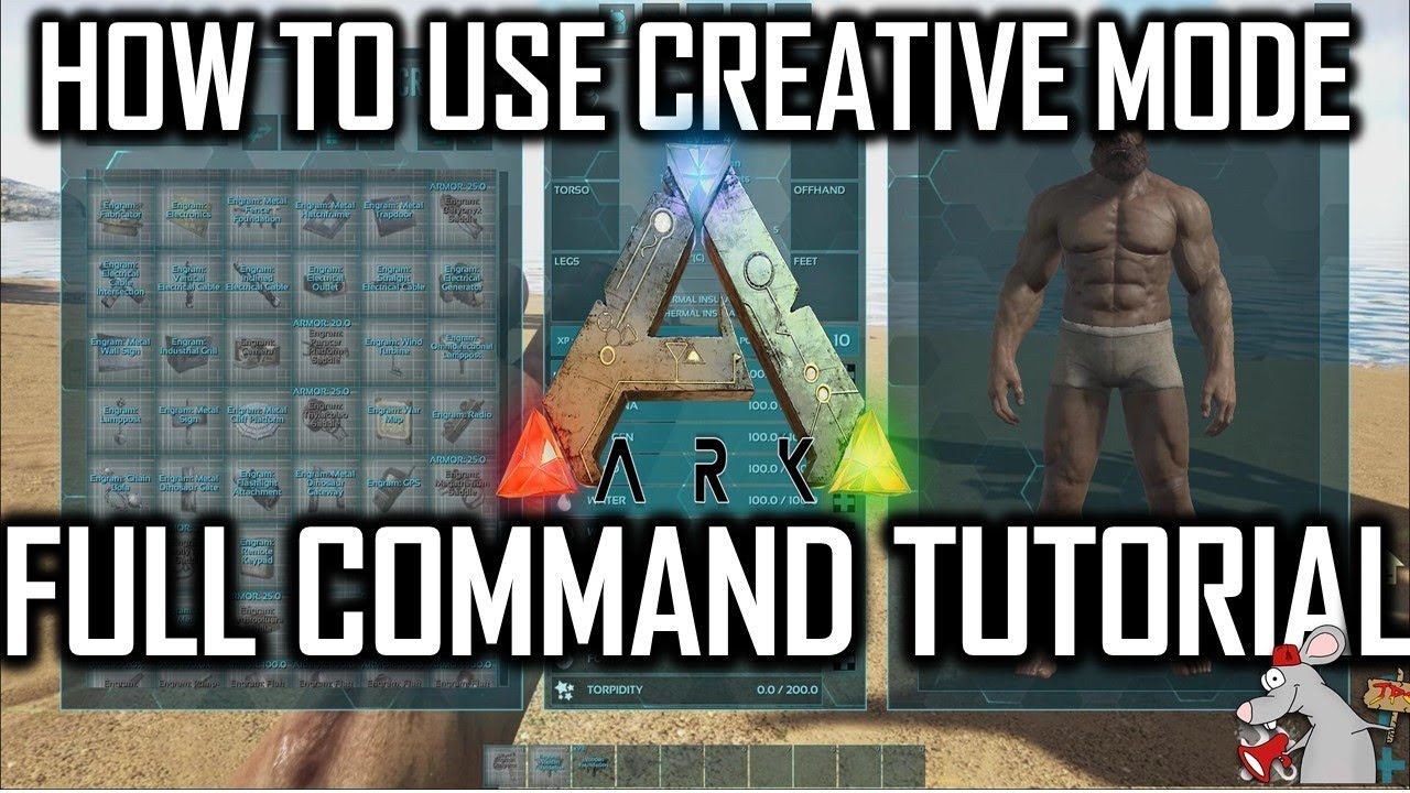 ARK CREATIVE MODE TUTORIAL - CREATIVE COMMANDS FULLY EXPLAINED