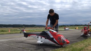 Huge AS-332 Super Puma ERA Scale Model R/C Helicopter 2016 Swiss Heli-Challenge