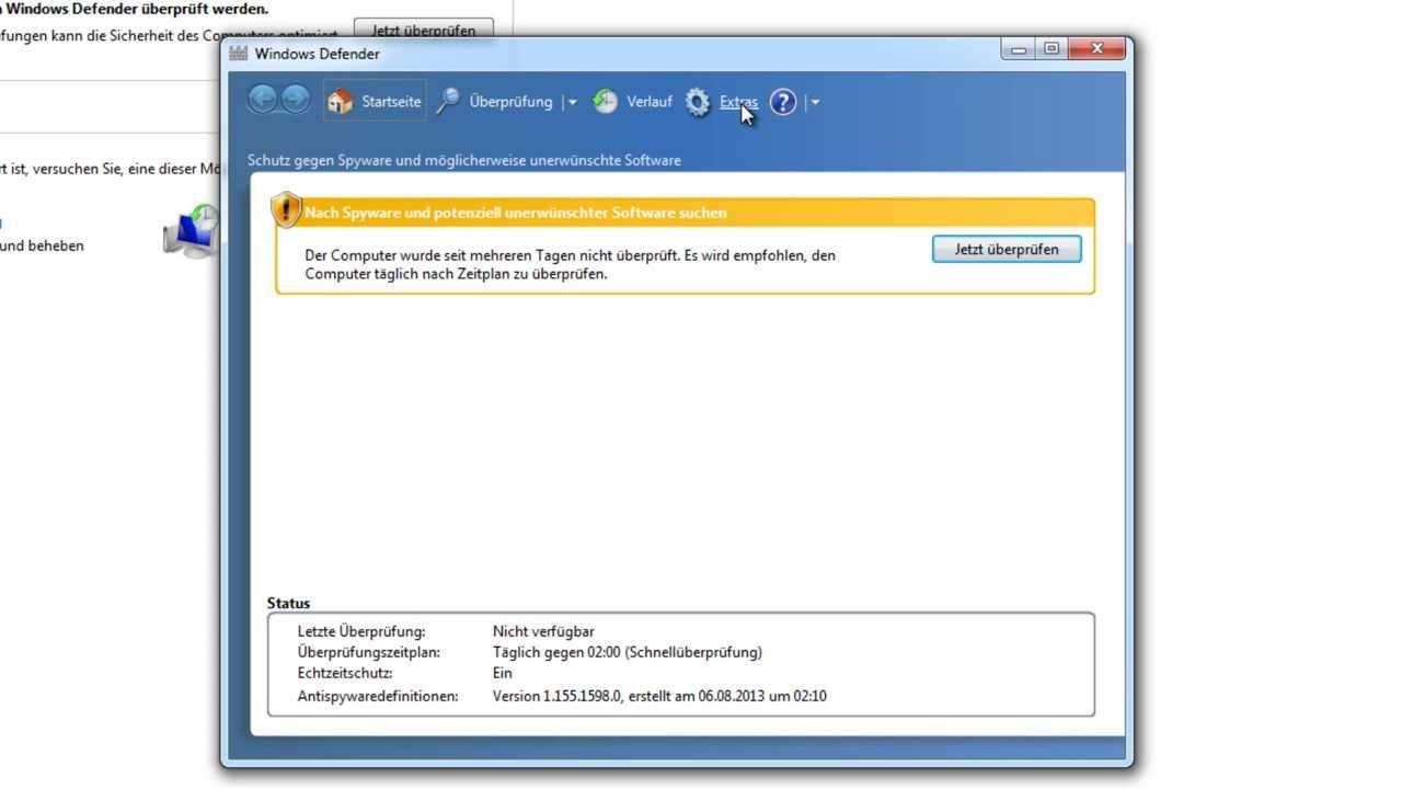 Tutorial Windows Defender Deaktivieren Windows 7 Deutsch Youtube