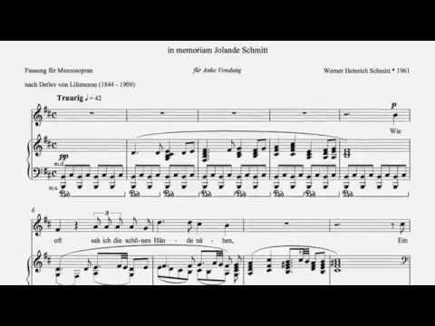 """Werner Heinrich Schmitt """"Memoriae"""" Anke Vondung Lied Nr 2 Meiner Mutter"""