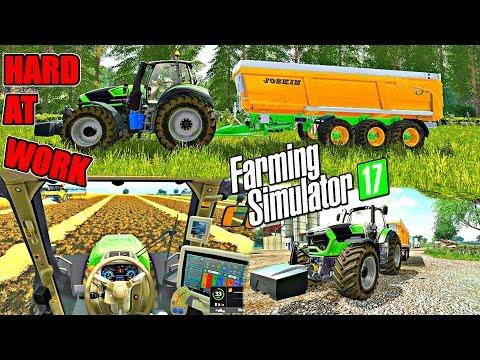 Farming Simulator 2017 | Deutz Fahr Hard At Work | 1080P 60FPS