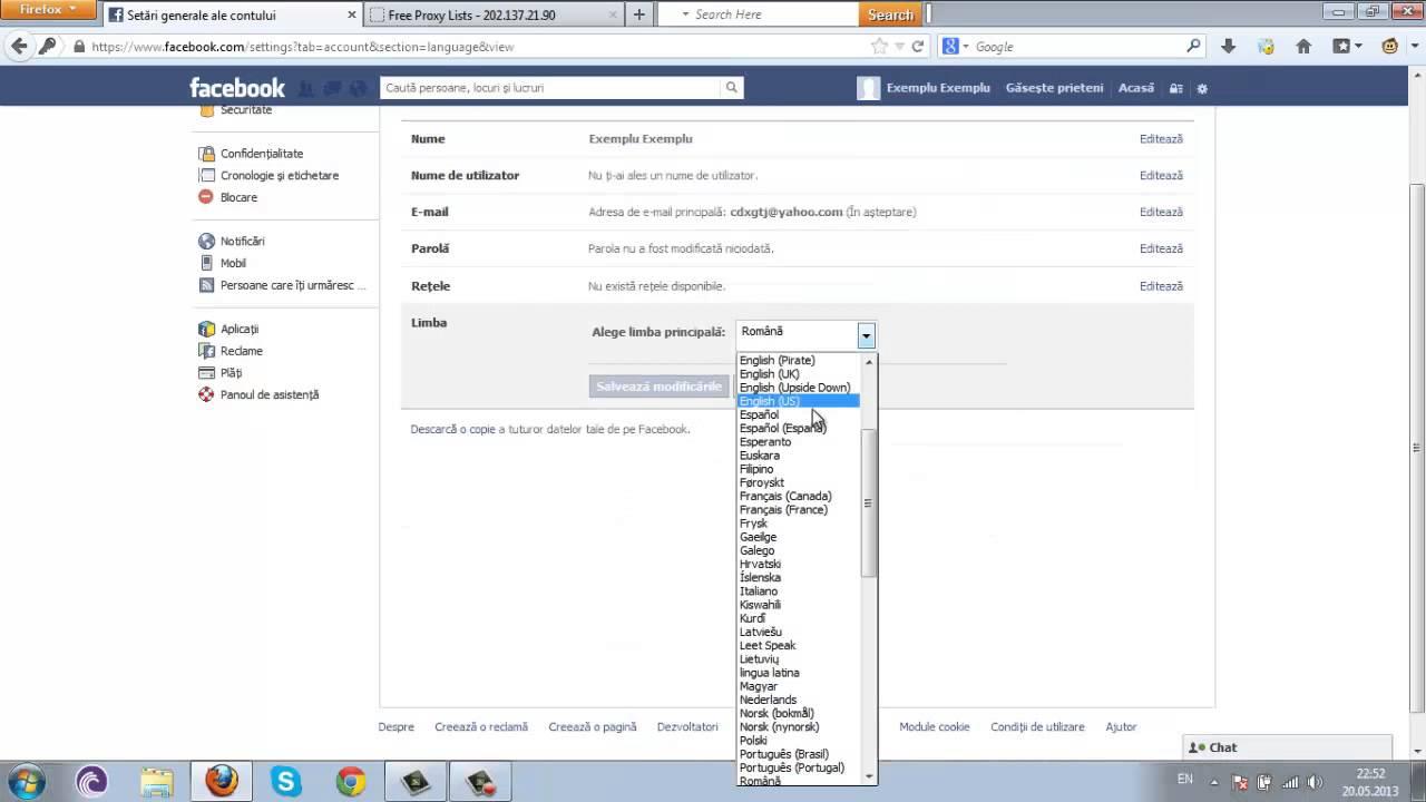 Cauta i un singur Facebook Facebook