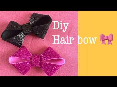 Diy How to make hair bow/clip at home