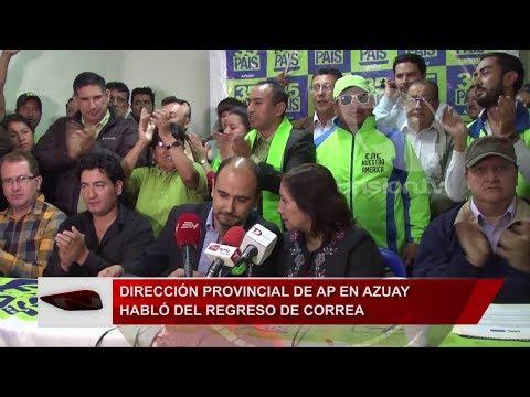 Dirección provincial de AP en Azuay habló del regreso de Correa