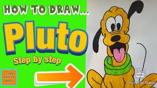 How to Draw Pluto the Dog from Disney Step by Step