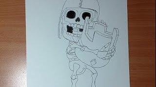 Dibuja al Rompe Muros de Clash of Clans con Corona de Clash Royale - How to Draw Wall Breaker