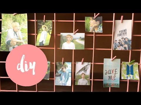 BTS Gift! DIY Wall Photo Grid! Under $2