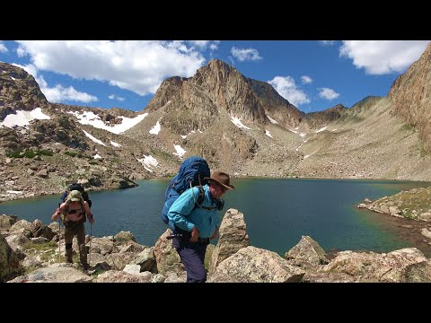 Backpack Hiking And Fishing For Nice Wyoming Trout In Remote Wind River Wilderness Lakes/Best In 4K