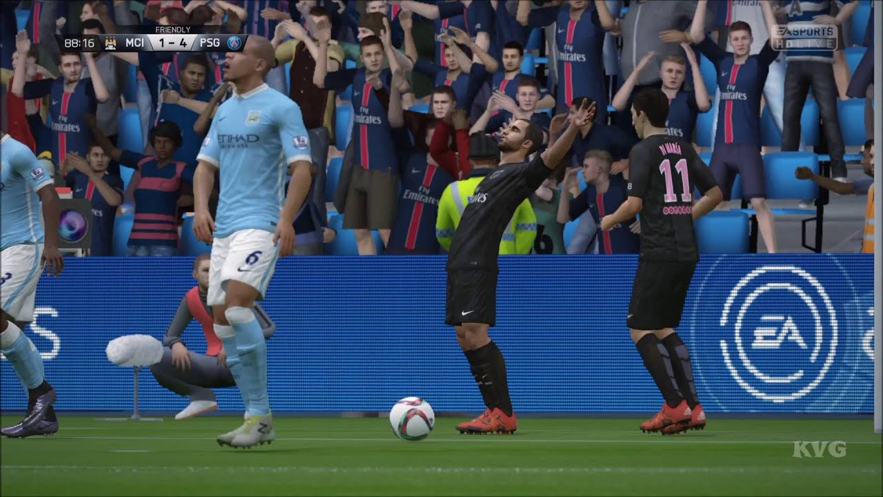 FIFA 16 - UEFA Champions League - Manchester City vs PSG ...