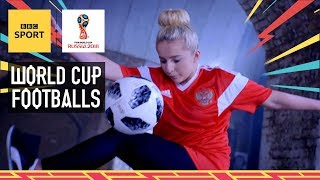 A history of World Cup footballs 1930-2018 - with freestyle world champion Liv Cooke - BBC Sport