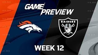 Denver Broncos vs. Oakland Raiders | NFL Week 12 Game Preview | Move the Sticks