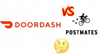 Driving for Postmates or Doordash ? What are some differences ? Can you do both at the same time?