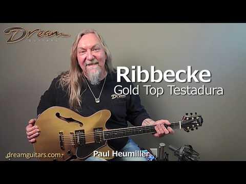 Ribbecke Gold Top Testadura, Ebony/Maple & Sitka Spruce