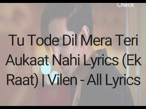 vilen -teri-aukat-nahi-hai -whatsapp-status -by-our-perception