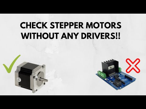 Stepper motor run with for How to run stepper motor without driver