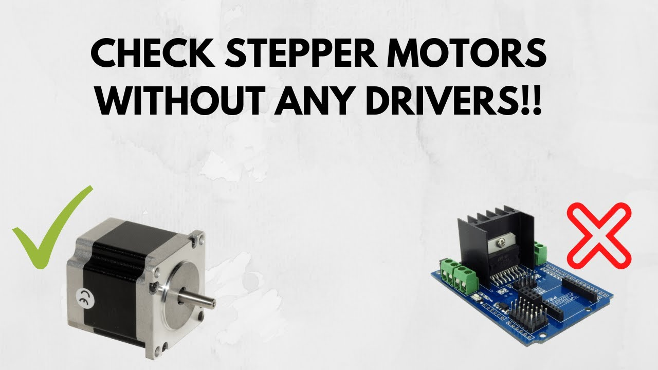 How to check stepper motor without driver youtube for How to test stepper motor