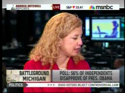 DNC Chair on MSNBC: Voters Rejecting Mitt Romney and Extreme Republican Policies
