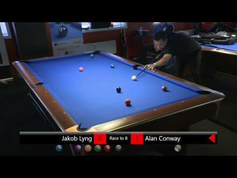 DM Pool 8-ball Individuelt 2016/17 | Jakob Lyng - Alan Conway | 2. runde