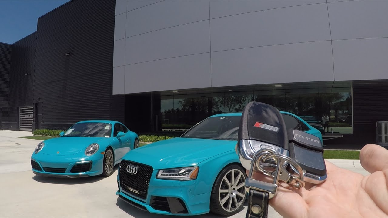 Miami Blue Audi S Plus MTM Talladega R Hp Porsche Carrera - Audi miami