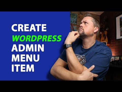 WordPress dashboard menus