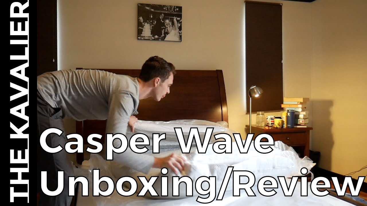 6 weeks sleeping on the casper wave unboxing review youtube