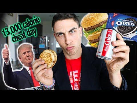 Donald Trump Diet Challenge (13,000 Calories)| Cheatday