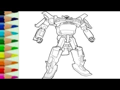Tobot Tritan Xyz Transformers Carbot Belajar Menggambar Kartun