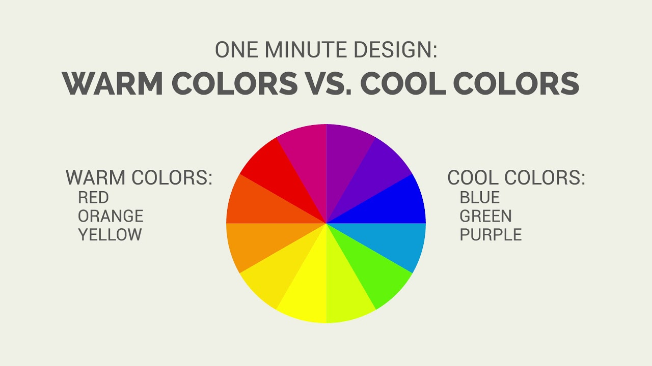 One Minute Design Warm Colors Vs Cool