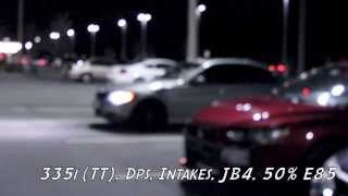 Twin Turbo BMW vs 5.0 Mustang, Cops Join the Party