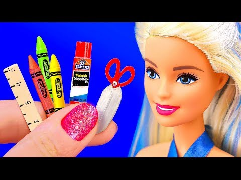 BACK TO SCHOOL 11 DIY Miniature School Supplies in 5 MINUTES CRAFTS