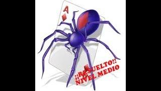 Solitario Spider nivel medio en MINIJUEGOS ... ¡Resuelto!