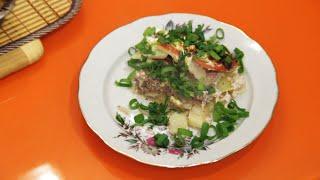 Картофель по французски с фаршем, быстро и вкусно
