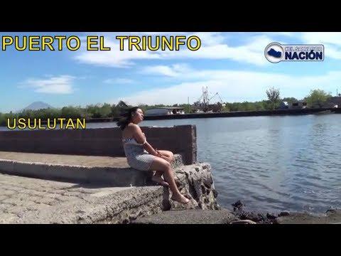 CONOCIENDO UN POCO MAS DEL  PUERTO EL TRIUNFO USULUTAN EL SALVADOR