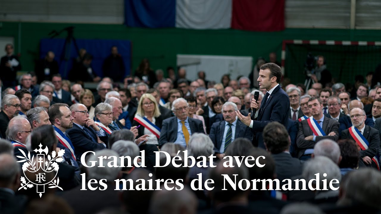 Grand Débat d'Emmanuel Macron avec les maires de Normandie