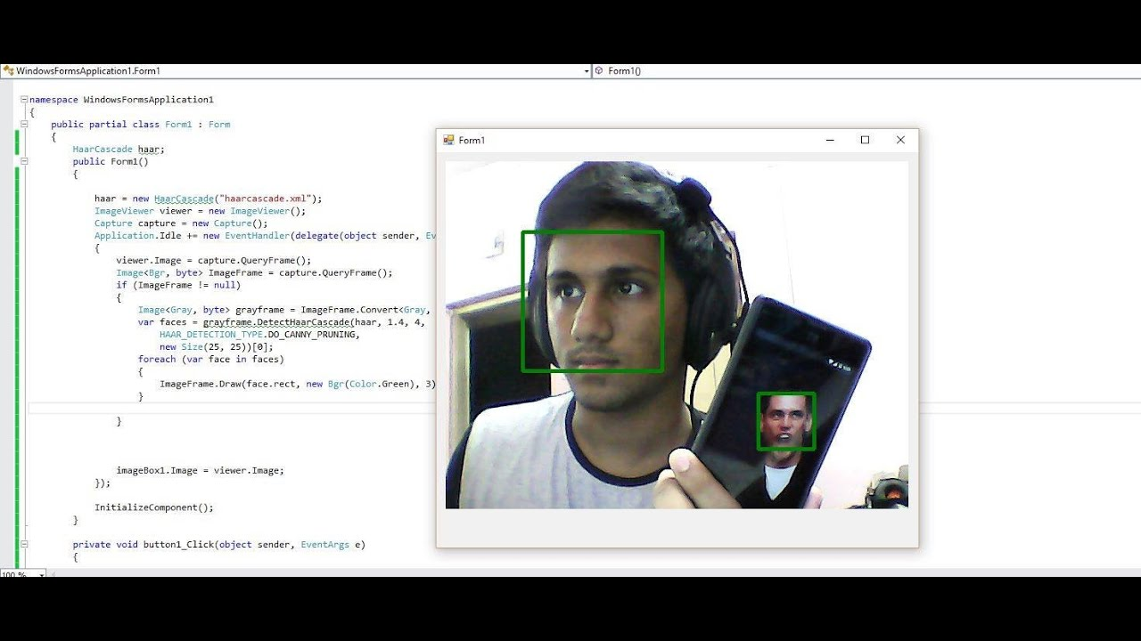 C Emgucv Webcam Face Detection Simple And Easy Youtube